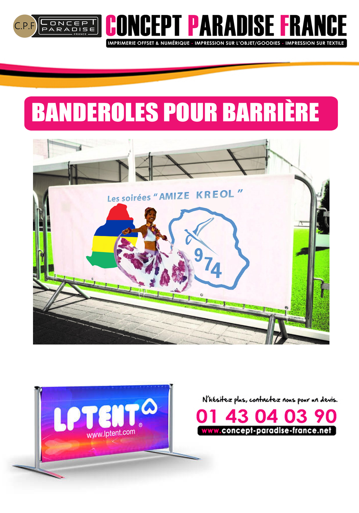 BANDEROLES POUR BARRIÈRE
