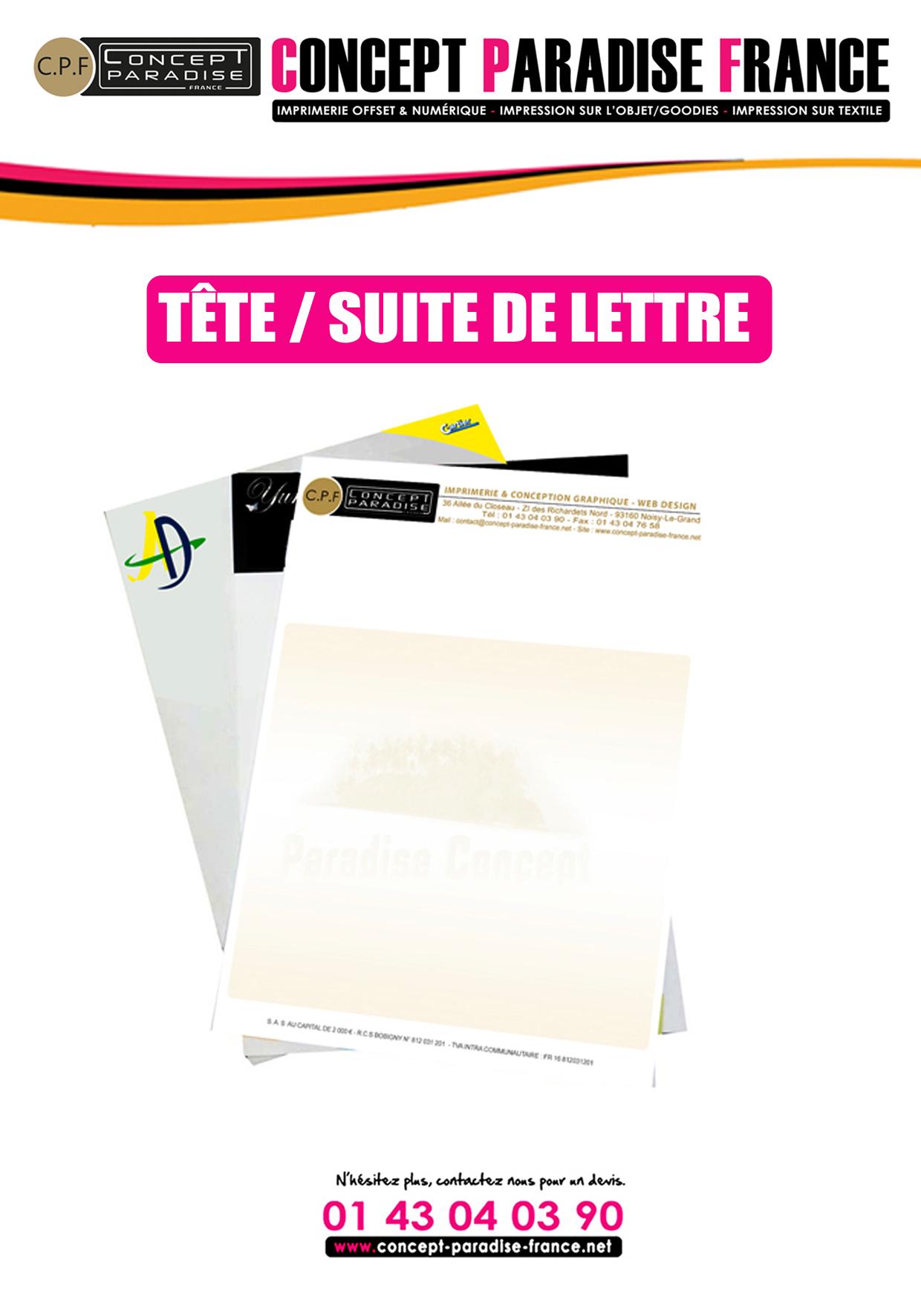 Tête / Suite de lettre