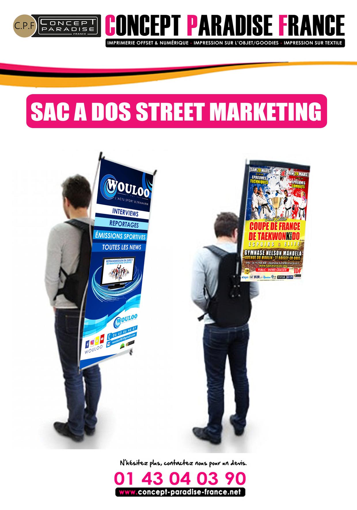 SAC À DOS STREET MARKETING