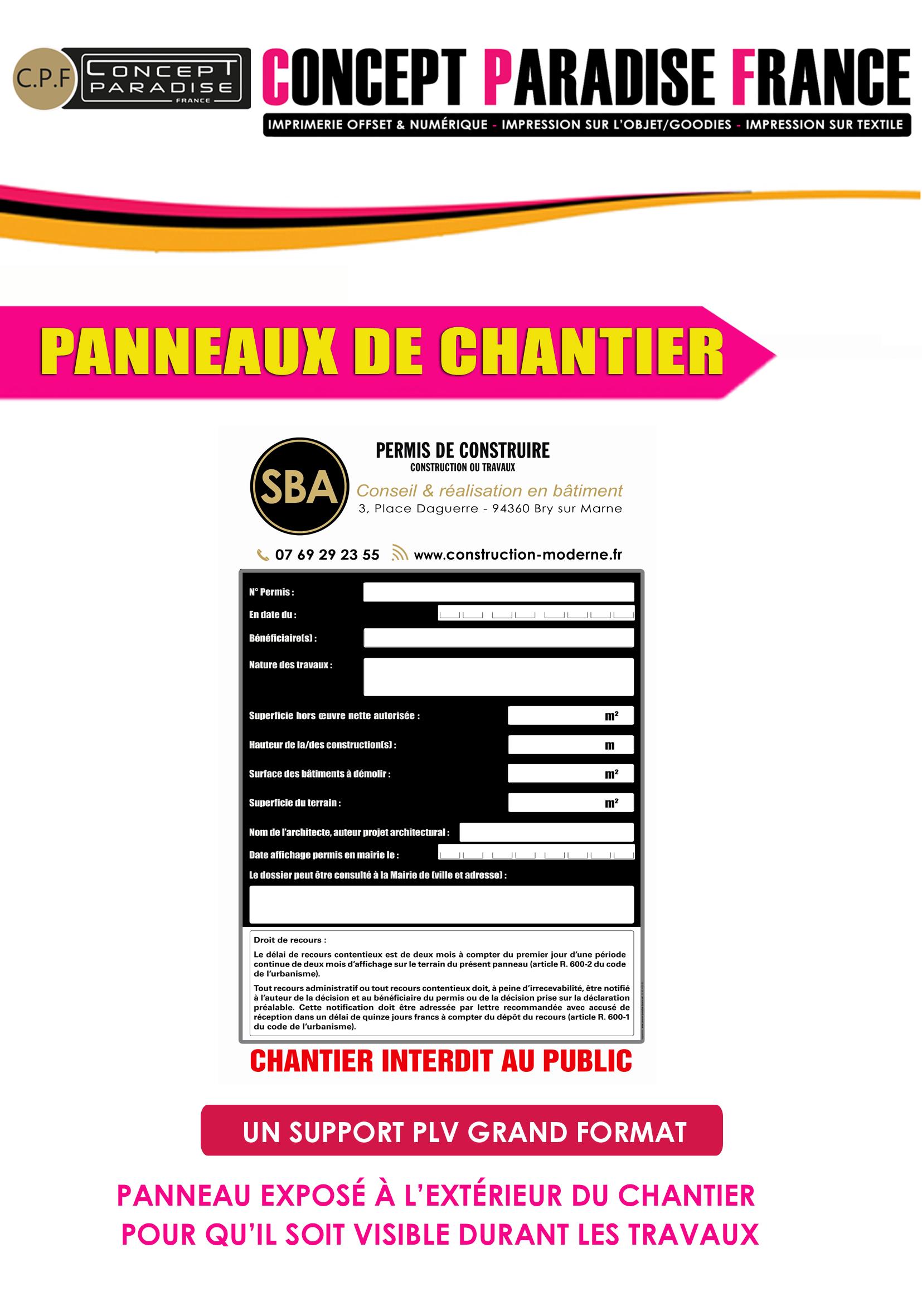 PANNEAU DE CHANTIER AKILUX