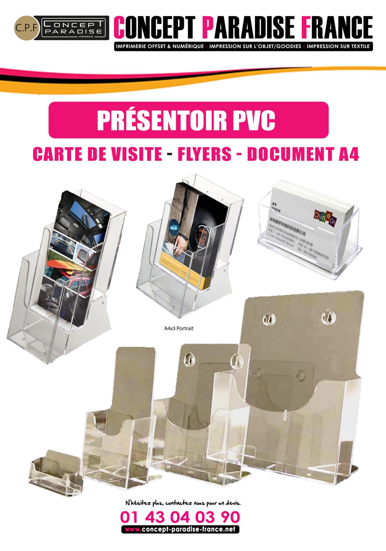 PRÉSENTOIR PVC DE FLYERS